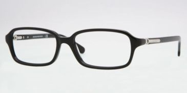 Brooks Brothers BB 731 Eyeglasses Styles -  Black Frame w/Non-Rx 53 mm Diameter Lenses, 6000-5316