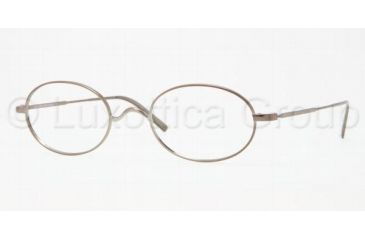 Brooks Brothers BB1001 Bifocal Prescription Eyeglasses 1553-5022 - Light Brown Frame, Demo Lens Lenses