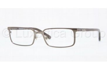 Brooks Brothers BB1003 Single Vision Prescription Eyeglasses 1584-5317 - Taupe Frame, Demo Lens Lenses