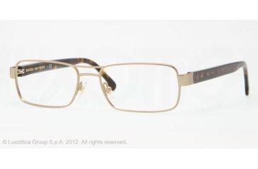 Brooks Brothers BB1011 BB1011 Progressive Prescription Eyeglasses 1526-53 - Gold Frame, Demo Lens Lenses