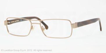 Brooks Brothers BB1011 BB1011 Progressive Prescription Eyeglasses 1582-53 - Taupe Frame, Demo Lens Lenses