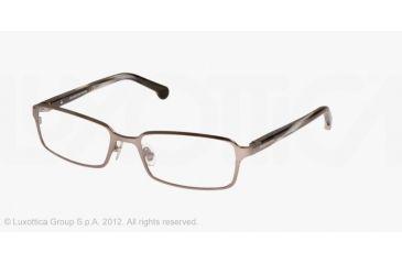 Brooks Brothers BB1017 Single Vision Prescription Eyeglasses 1509-53 - Matte Gunmetal Frame, Demo Lens Lenses