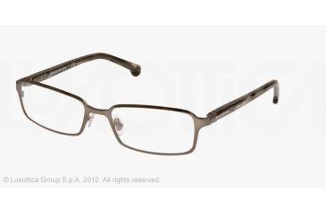 Brooks Brothers BB1017 Single Vision Prescription Eyeglasses 1627-53 - Matte Olive Frame, Demo Lens Lenses