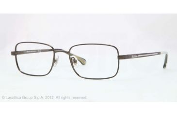 Brooks Brothers BB1019 Single Vision Prescription Eyeglasses 1616-51 - Olive Frame, Demo Lens Lenses