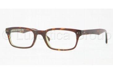 Brooks Brothers BB2003 Eyeglass Frames 6044-5120 - Green Tortoise Frame, Demo Lens Lenses