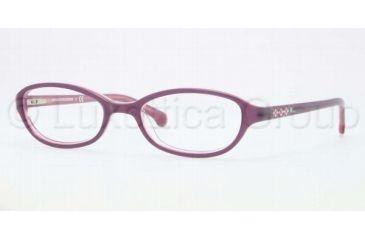 Brooks Brothers BB2006 BB2006 Single Vision Prescription Eyeglasses 6056-4718 - Burgundy Pink Frame, Demo Lens Lenses