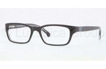 Brooks Brothers BB2007 BB2007 Bifocal Prescription Eyeglasses 6040-4616 - Black Crystal Frame