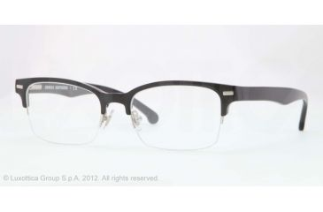 Brooks Brothers BB2014 Bifocal Prescription Eyeglasses 6000-50 - Black Frame, Demo Lens Lenses