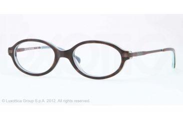Brooks Brothers BB2016 Single Vision Prescription Eyeglasses 6069-47 - Tortoise/teal Frame
