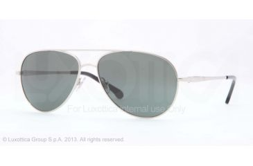 Brooks Brothers BB4020 Sunglasses 155887-58 - Silver Frame, Grey Solid Lenses