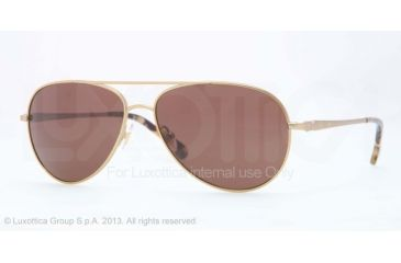 Brooks Brothers BB4020 Sunglasses 164073-58 - Brushed Gold Frame, Brown Solid Lenses