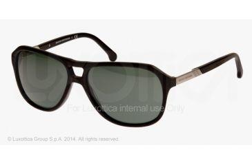 Brooks Brothers BB5013 Sunglasses 600071-58 - Black Frame, Green Solid Lenses