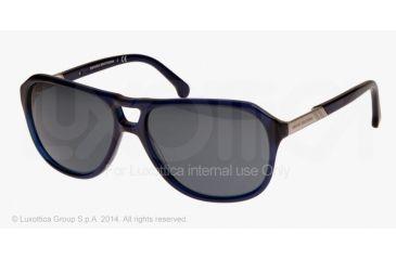 Brooks Brothers BB5013 Sunglasses 607087-58 - Dark Blue Frame, Blue Grey Solid Lenses