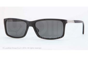 Brooks Brothers BB5014 Sunglasses 606481-57 - Matte Black Frame, Grey Solid Polarized Lenses