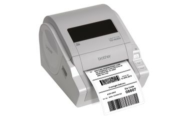 Brother Mobile Solutions TD-4000 Desktop Barcode Printer TD4000 In Use