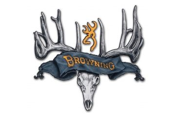 Browning 15 Inch Rogue Rack Skull Black Gold Decal