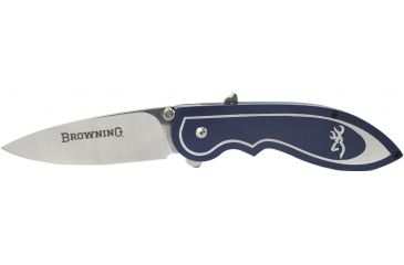 1-Browning 355 Backdraft Assisted Open Knife - Blue w/ 3.25in Blade