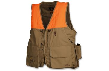 86890e1692fc4 Browning Birdn Lite Vest with Pheasants Forever Embroidery, Khaki/Blaze, M  3056895802