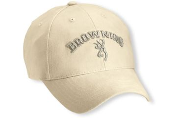 Browning Solid Color Cap with 3-D Arch Logo Embroidery, Khaki 308307581