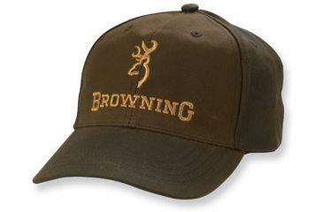 Browning Junior Dura-Wax Cap with Corporate Logo, Brown