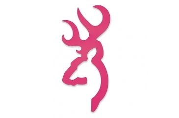 Browning Flat Buckmark Decal Hot Pink