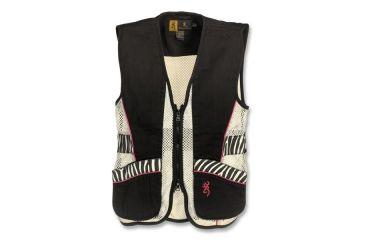 Browning Junior Trapper Creek Mesh Shooting Vest, Black/Zebra, 2XL 3050543905