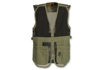 Browning Junior Trapper Creek Mesh Shooting Vest, Sage/Black, 2XL 3050545405