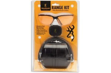 Browning Range Kit w/Shooting Glasses, Earmuffs and Ear Plugs - 126368