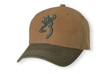 Browning Repel-Tex Cap, Acorn/Olive, Adult cap adjustable fit 308110341