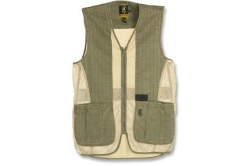Browning Rhett Shooting Vest, Olive/Tan, 2XL 3050297405