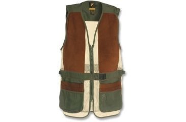 Browning Sandoval Shooting Vest, Olive/Tan with Pigseude, 2XL 3050285405