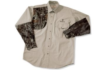 Browning Prairielands Canvas Overlay Shirt, Khaki/MOBU