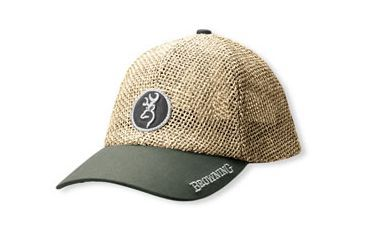 5c290e6fe Browning Straw Cap with Repel-Tex Brim, Brown, Adult cap adjustable fit  308106881