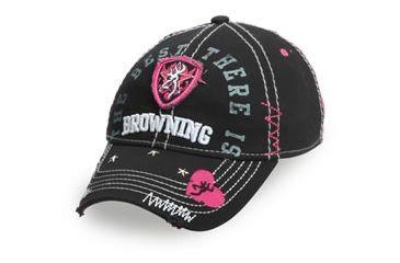 Browning Sweetheart Mesh Back, Black/Hot Pink, 308239992