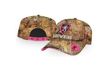 Browning Sweetheart Mesh Cap, Realtree Xtra/Hot Pink, Adult cap adjustable fit 308239242