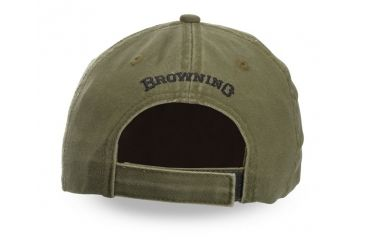 Browning Twill Cap with 3-D Buckmark and Pipe Brim, Olive/Black, 308304641