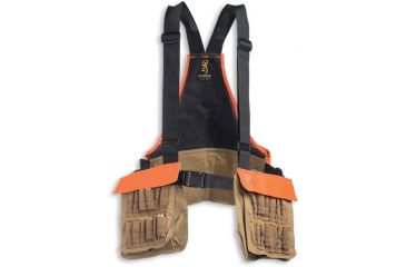 Browning Pheasants Forever Strap Vest Field Tan logo embroidery 30511732