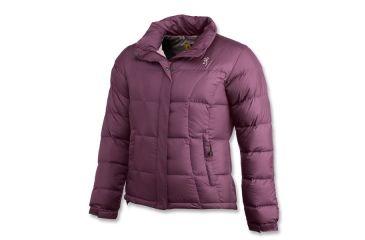 Browning Womens 650 Down Jacket, Plum, Womens XS 3049614800