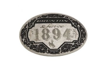 Brunton F Buckle O Oval All Around 1894 Belt Buckle