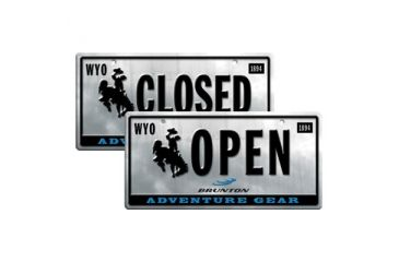 Brunton F Openclosed License Plate Business Open Closed Sign 8inx12in