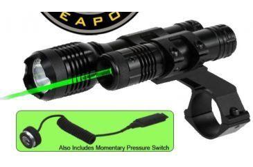 1-BSA Optics 532nm Tactical Weapon Green Laser Sight w/ 160 Lumen Flashlight