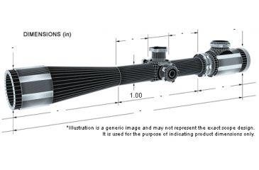 BSA Optics Crossbow Scope - dimensions
