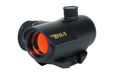 BSA Optics 20mm Red/Green/Blue Dot Reflex Sight, Gift Paper Box RD20RGBCP