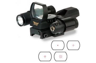 BSA Optics Panoramic Green & Red Laser / Light Combo Red Dot Sight