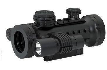 1-BSA Optics Stealth Series Red Dot Flashlight & Laser w/Black Matte Finish STSRD30LL