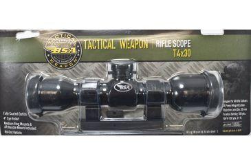 BSA Optics Tactical Weapon 4x30mm, Mildot Reticle w/ Rings Scope, Black, 4x30mm T4X30WRCP