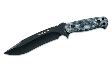 Buck Knives Reaper Fixed Blade Knife, Reaper Black Camo Handle 0620CMS13