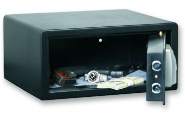 Bulldog Cases 14x10x8 Pistol Vault w/ Biometric Fingerprint Lock- Black