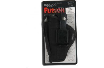 Bulldog Cases Belt And Clip Ambi Holster w/ Color Header Card Packaging for Most Large Frame w/ 6 1/2 - 8 3/8'' Barrels (S & W K,L,N Frame) FSN-16