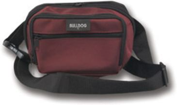 Bulldog Fanny Pack Holster - Burgundy with Black Trim, Large BD875